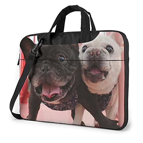VVTBACE Cute French Bulldog Graphics Laptop Bag 14 inch, Laptop Shoulder Bag Notebook Computer Case Sleeve for Travel/Business