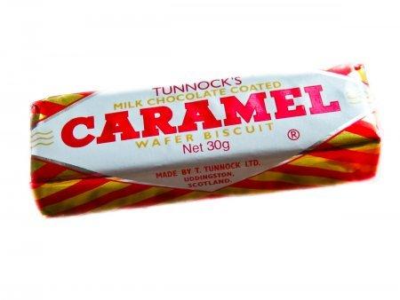 Tunnocks Milk Chocolate Caramel 8 Wafers - Pack of 6
