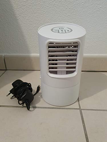 Mini Enfriador de Aire Acondicionado Humidificador Portátil, Climatizador Evaporativo, con Temporizador Silencioso Espacio Personal Móvil, 3 Velocidades,7 Colores Luz Ajustable Hogar,Oficina,Camping
