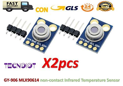 TECNOIOT 2pcs GY-906 MLX90614 Non-Contact Infrared Temperature Sensor Module MLX90614ESF