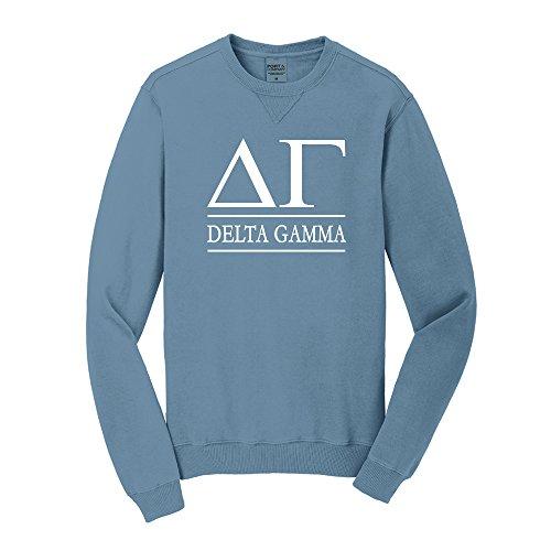 Delta Gamma Vintage Color Crewneck Sweatshirt (Unisex M, Mist Blue)