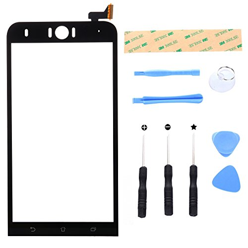 Lusee Digitizer scherm voor Asus ZenFone Selfie ZD551KL Z00UD 5.5 Voorkant Vervanging Touch Screen Display Reparatie Touchscreen Glas Replacement Front Compleet glas Touch Panel Tool Black