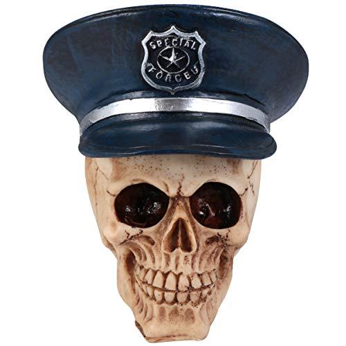 POPETPOP Cráneo Adorno de Acuario Cráneo de Resina con Tapa Reptil Pez...