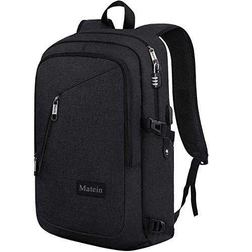 Slim Travel Backpack,Anti-Theft School Backpack with USB Charging Port