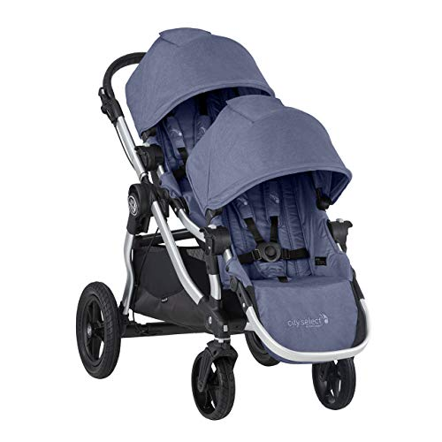 Baby Jogger City Select Double Stroller | Baby Stroller with 16 Ways to Ride, Included Second Seat | Quick Fold Stroller, Moonlight