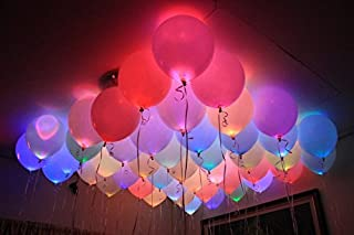 Party Propz Led Balloons Set Of 25 Pcs For Neon Party,birthday decoration,party supplies,birthday party decoration, Annive...