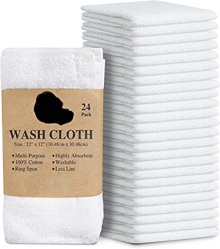 "Simpli-Magic 79078 Linens, 12""x12"", Washcloths, White,24"