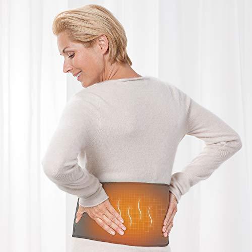 Medisana HS A68 Wärmegürtel Heizgürtel Rückenwärmer Heizkissen, 4 Temperaturstufen, 4 Stunden Akkulaufzeit zur In- und Outdoor Anwendung, Schmerzlinderung für Rücken und Bauch, waschbar