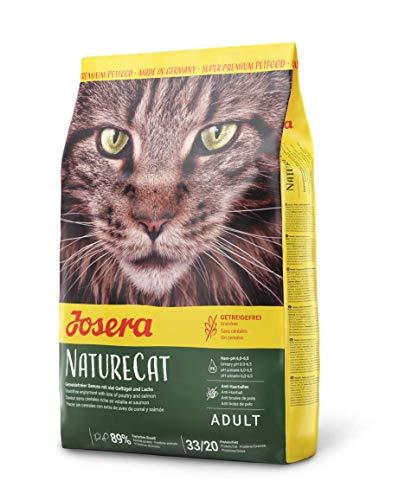 JOSERA NatureCat Drijdvrij kattenvoer met gevogelte en zalm, super premium droogvoer voor volwassen katten, per stuk verpakt (1 x 2 kg)
