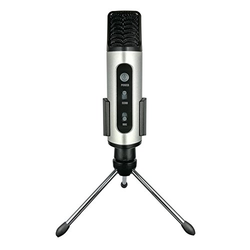 TKGOU Portable Microphone, iPhone Wireless Karaoke Microphone with pop Filter & Tripod Microphone Stand, Great for Vocal, Recording,Facebook Chat(GM991S)
