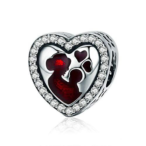 Gaorb S925 Sterling Silver Met Diamanten Grote Moeder-of-pearl DIY kralen sieraden accessoires Compatibel met Pandora en Europese Armbanden Kettingen