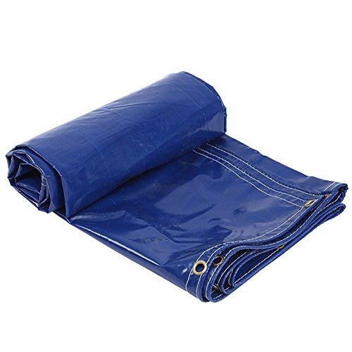ZEMIN Bâche Protection Couverture Transparente Imperméable Crème Solaire Tente Drap Toit Épaissir Tissu Oxford Polyester, Bleu, 400G / M², 5 Tailles Disponibles (Color : Blue, Size : 4X5M)
