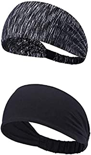 Hinyyrin Sports Headband headbands for workout Running Athletic Fitness Gym Yoga Moisture Wicking Crossfit Non Slip Lightw...