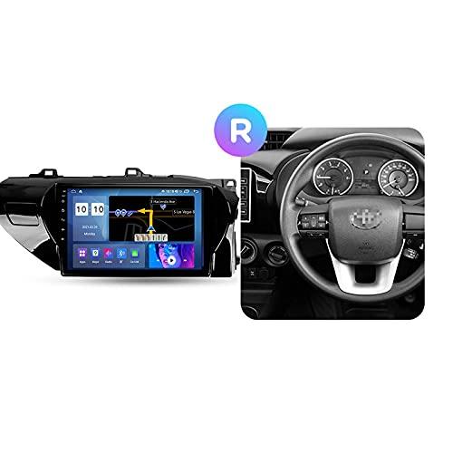 Android 10.0 Car Stereo 2 DIN Radio para T-oyota Hilux 2015-2020 Navegación GPS 10 '' Unidad Principal Reproductor Multimedia MP5 Receptor de Video con 4G / 5G WiFi Carplay