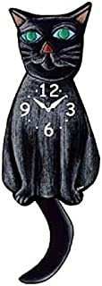 Best black cat clock wagging tail Reviews