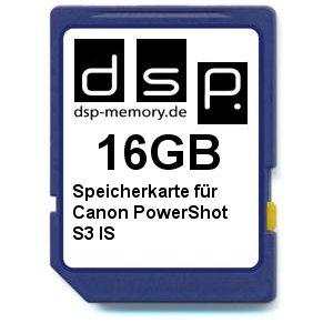 16GB Speicherkarte für Canon PowerShot S3 is