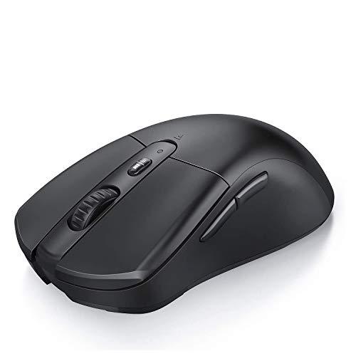 Jelly Comb Bluetooth und 24G Kabellose Maus Dual Modus Funkmaus DPI 100016002400 Einstellbar Computermaus fur LaptopPCTabletHandy WindowsAndroidMac OS Schwarz