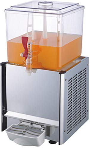CGOLDENWALL - Máquina de bebidas automática comercial, 20 L, tanque individual o doble tanque, dispensador de zumo frío y caliente, máquina de cerveza para bebidas frías, 110 V/220 V
