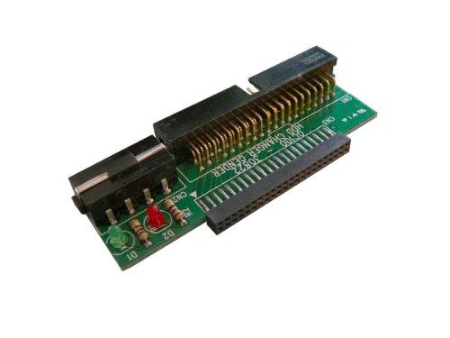 Kalea Informatique - Adaptador cambiador de género para disco duro IDE de 2,5 pulgadas, 44 pines a IDE de 3,5 pulgadas, 40 pines, diodos de voltaje y actividad