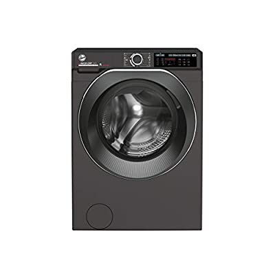 Hoover H-Wash 500 HDD4106AMBCR Free Standing Washer Dryer, Care Dose, A Rated, 10 kg/6 kg, 1400 rpm, Graphite