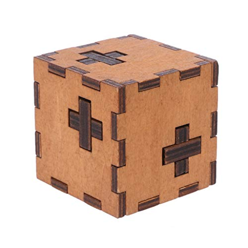 niumanery New Switzerland Cube Wooden Secret Puzzle Box Wood Toy Brain Teaser Toy For Kids