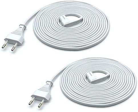 Brighton Vebner - 2 Câbles d'Alimentation pour Sonos Play One, One SL et Play-1 (Blanc, 5 Mètre)