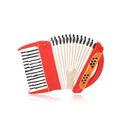 BAJIE Broche Esmalte en Forma de acordeón Broche de músico Pin Dorado...