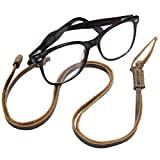Hide & Drink, Adjustable Eyeglasses Leather Strap, Glasses Cord, Everyday Accessories, Handmade Includes 101 Year Warranty :: Bourbon Brown
