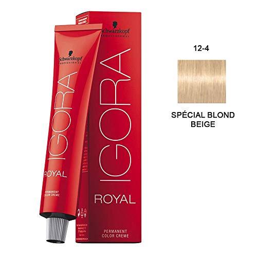 Schwarzkopf IGORA Royal Premium-Haarfarbe 12-4 spezialblond beige, 1er Pack (1 x 60 g)