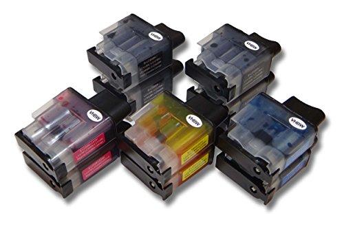 10 x vhbw Druckerpatronen Tintenpatronen Set für Brother Brother MFC-210C, MFC210, MFC-215, MFC-215C wie LC-900BK, LC-900C, LC-900M, LC-900Y.