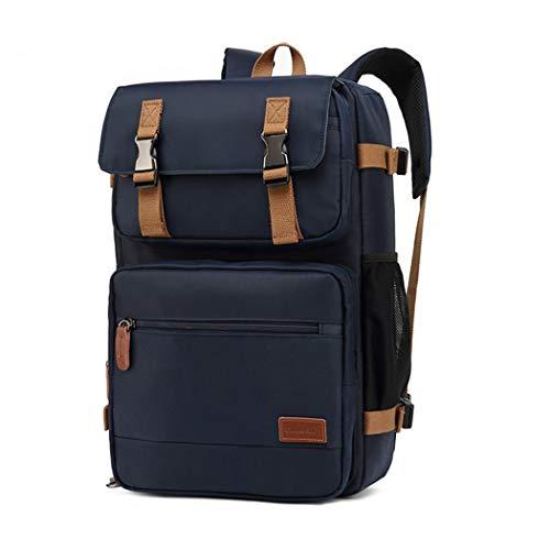 Multifunction 17 Inch Laptop Backpack for Teenager Business Men Travel Suitcase Bag Blue