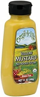 Organicville Yellow Mustard, 12-Ounce (Pack of 6)