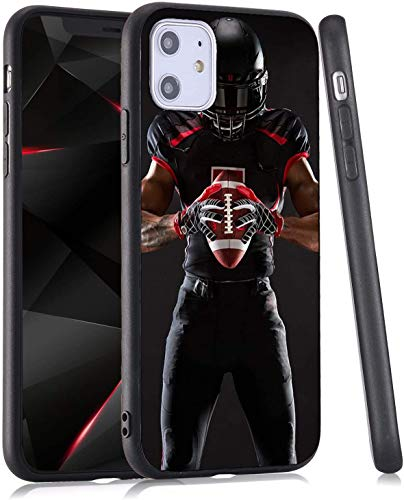 LuGeKe Cool Baller Phone Case for iPhone XR,Football Player Patterned Case Cover,Hard PC Back with TPU Bumper Anti-Stratch Bumper Protective Boys Football Phonecase(Cool Baller)