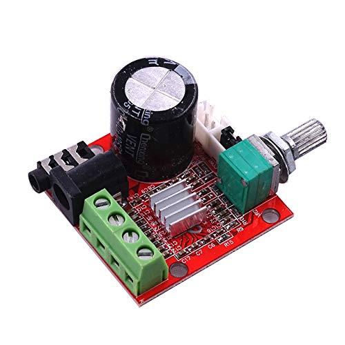 ¡Envío gratis! 10 unids/lote 12 V Mini Hi-Fi PAM8610 Placa de Amplificador de Audio Estéreo 2X10W Dual Channel D Clase Precio Más Bajo