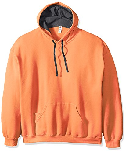 Fruit of the Loom Men's Hooded Sweatshirt,Orange Sherbet,XXX-Large