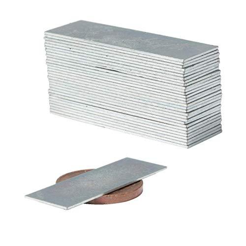 Neodym Magnete Extra Stark Quader 30x10x0,5mm - Powermagnet - Neodym Magnet 30mm - Quadermagnet 30 x 10 x 0,5 mm - N52 Stark Neodym-Magnete (20 Stück)