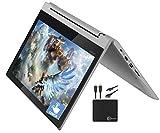 2021_Lenovo Premium Chromebook Flex 3 11.6' 2-in-1 Touchscreen HD Laptop Business & Student, MediaTek MT8173C Quad-Core Processor, 4GB RAM, 32GB eMMC, HD Webcam, Chrome OS, WiFi, w/Marxsol Cables