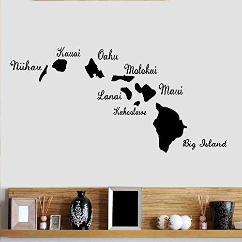 Wandtattoo Hawaii Inseln Hawaii Pvc Aufkleber Hawaii Karte Auto Und Wand 95X60Cm