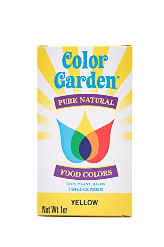 Color Garden Pure Natural Food Colors, Yellow 5 ct