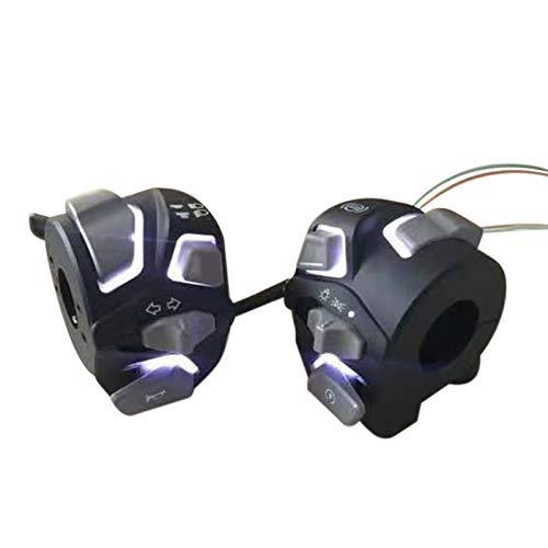 Heritan Motocicleta iluminado interruptor faro lámpara manillar Control botón interruptor para Nmax 155 Nmax155 2020 N-Max 155
