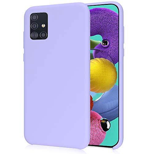 Oureidoo Funda para Samsung Galaxy A51, Funda para Silicona Líquida con [Tacto Agradable] [Protección contra Caídas] [Anti-Arañazos] para Samsung Galaxy A51 - Lavanda púrpura