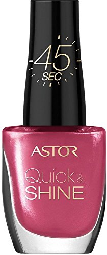 Astor Quick & Shine nagellak sneldrogend en met hoogglans afwerking 8 ml (1er Pack) 204 Life in pink