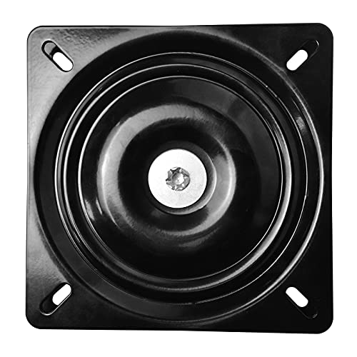 MySit 10' (245mm) Square Swivel Replacement for Recliner Chair or Furniture - Ball Bearing Swivel Plate Mechanism - Flat
