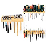 Screwdriver Organizer, Pliers Holder, Hammer Rack, Wall Mounted Tools Organizers and Storage for Garage, Workshop, 3 Pack