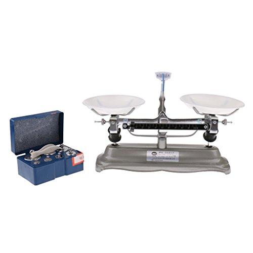 Conjunto de balanza de Mesa con Múltiples Pesas para Juego de Equilibrio, Uso para Aulas de Química - 500 Gramos