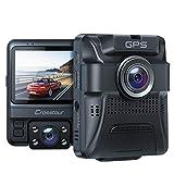 Dashcam Auto Vorne Hinten, Integrierte GPS, Full HD 1080P Dual Crosstour Autokamera mit...