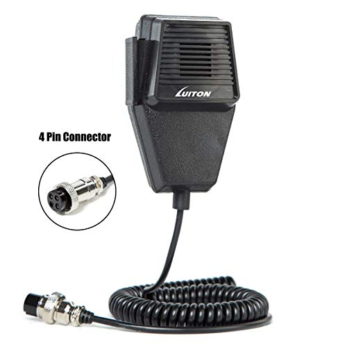 Best Deals! Cb Microphone Speaker Noise Cancelling 4-Pin Mic Speaker Compatiable with PC78LTX Cb Rad...