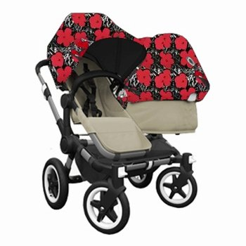 Sale!! Bugaboo Donkey DUO Stroller WITH Andy Warhol Fabric (Sand Base)