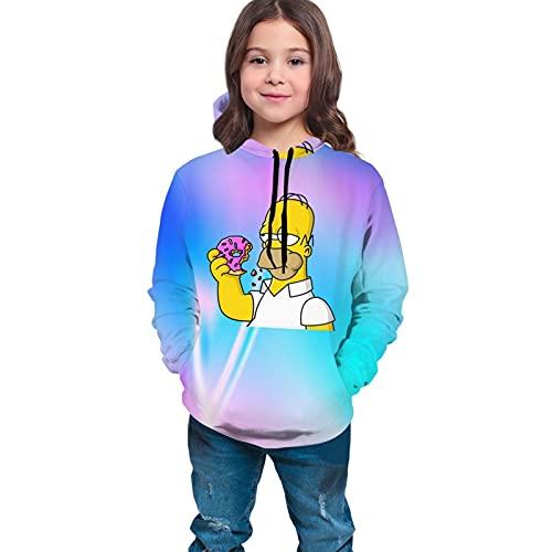 Hom-Er-Sim-Pson - Sudadera de manga larga para adolescentes de 10 a 12 años