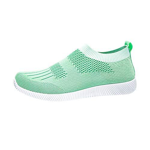 DAIFINEY Damen Freizeitschuh Sneaker Mesh Leichte Modische Turnschuhe Freizeit Atmungsaktiv Sportlicher Trainingsschuh Sportschuhe Laufschuhe(1-Grün/Mint Green,37)